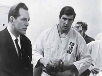 Генрих Шульц и олимпийский чемпион А. Геесинк
