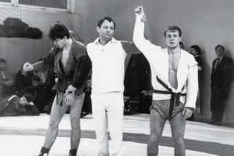 Судья Владимир Дученко на первенстве Союза. Фрунзе, 1990 год