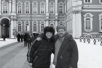 Февраль 2005. Слева направо: Георгий Богданов и Митчел Пэрис в Санкт-Петербурге. В последний раз они встречались в 1977 году