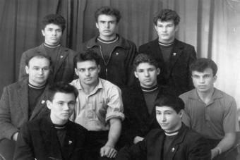 Первая секция самбо Горьковского политехнического