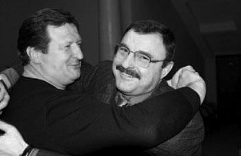 Учитель и ученик. С. Новиков и А. Гурьев