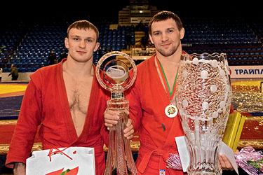 Слева направо: А. Казусенок и Ю. Рыбак