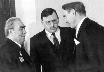 С Л.И. Брежневым и М. Койвисто, 1982 г.