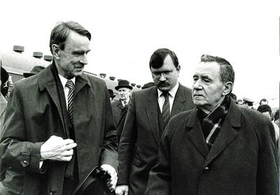 С А.А. Громыко и М. Койвисто, 1985 г.