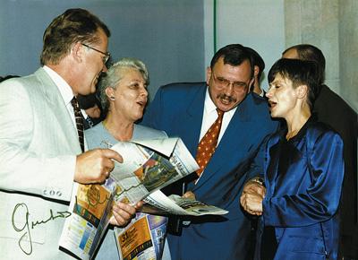 С президентом Латвии Г. Улманисом, 1996 г.