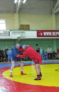 Турнир по самбо среди мастеров  вКаунасе, 2009 г. Финал.
