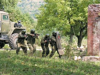 Тренировка ОМСН, Кабардино-Балкария