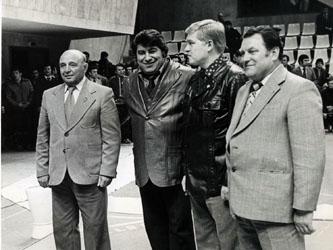 С А.В. Ялтаряном и Д.Г. Миндиашвили на чемпионате по вольной борьбе СССР. Москва, 1971 г.
