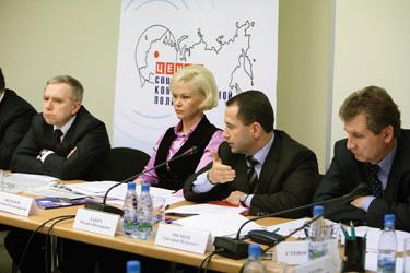 На заседании в Центре социально-консервативной политики, 2008 г.