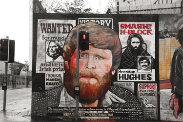 Киаран Ньюджент, основоположник Одеяльного протеста, осужденный в1976году член IRA. Он, требуя признать себя политическим заключенным, облачился в одеяло вместо тюремной формы. С этого начались пять лет тюремных протестов, закончившиеся массовой голодовкой.